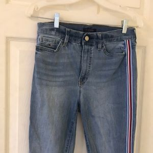 tommy hilfiger side stripe mid wash jeans